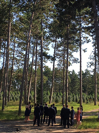 Christmas Tree Farm Weddings.Photographers Hansen Tree Farm